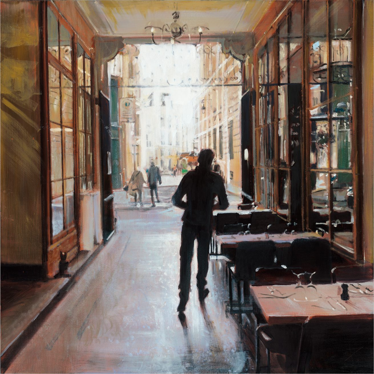 Vivienne Waiter, oil on canvas,100x100cm